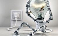 3D Lamphead Robot HD wallpaper
