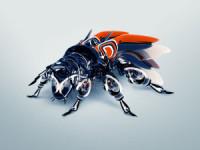 bee robot blue wallpaper