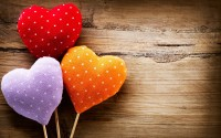 colorful hearts love mood hd wallpaper