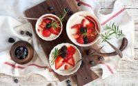 food cheese breakfast berries strawberries blackberries hd wallpaper