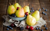 fruits berries pears cherries blackberries hd wallpaper