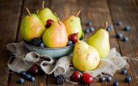 fruits berries pears cherries blackberries hd wallpaper