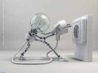 robot woman lamp x wallpaper