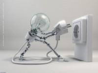 robot woman lamp x wallpaper