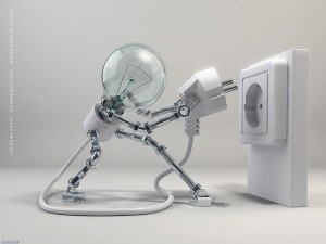 robot woman lamp x