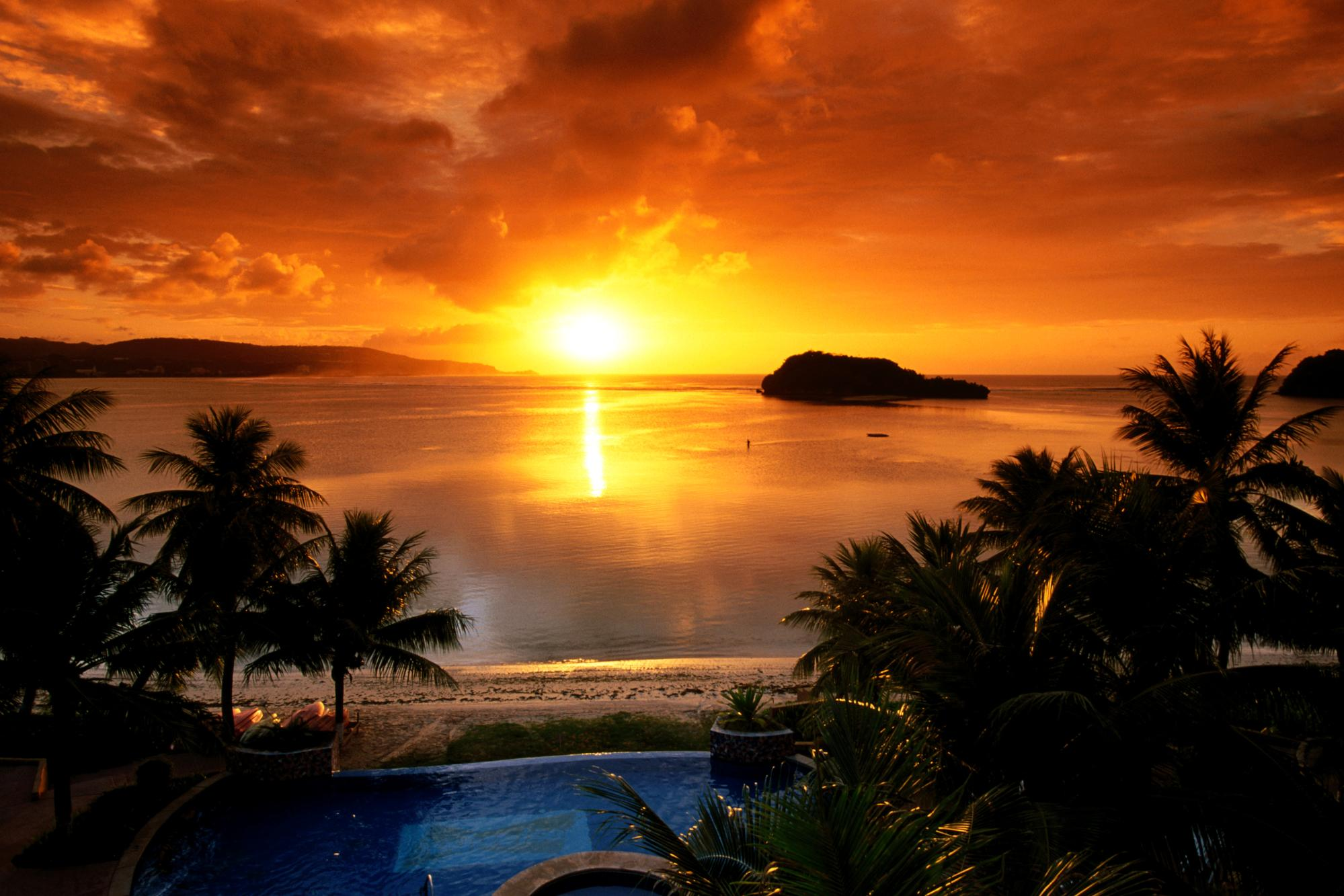 Agana Bay at Sunset, Tamuning, Guam