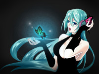 Anime Girl Butterfly