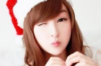 Asian Cute Girls Christmas HD Wallpaper