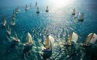 Boats ocean sea wallpaper