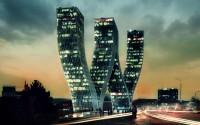 Greatest bending skyscrapers wallpaper