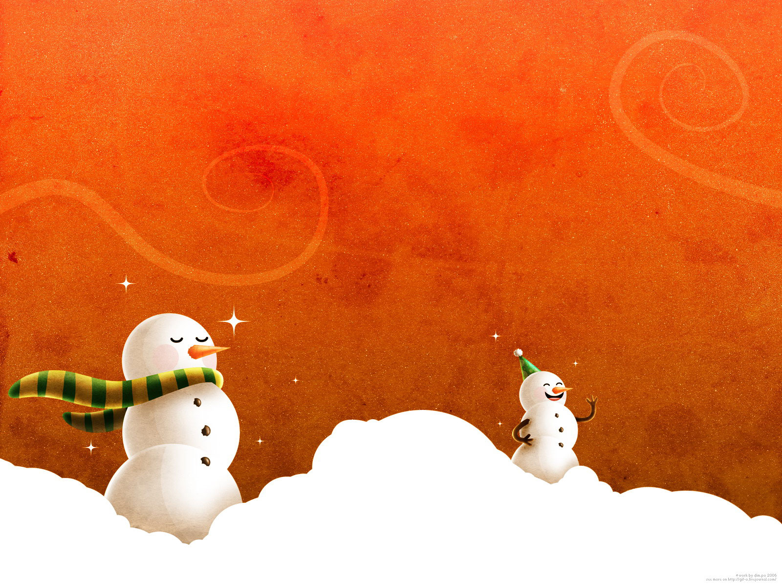 Laughing Christmas Snowmen