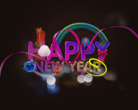 Lovely New Year Colorful Graphics