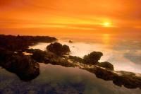 Orange Sunset, Verdes Peninsula, California