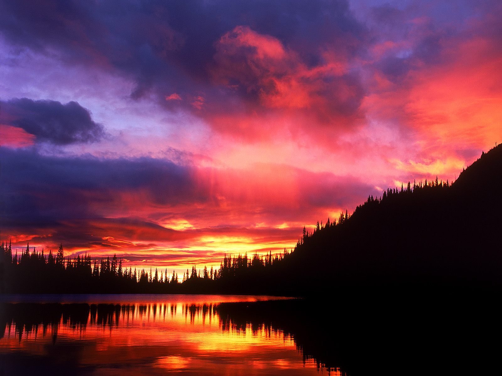 Reflection Lake at Sunrise, Mount Rainier National Park, Washington