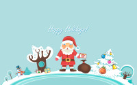 Santa Claus Happy Holidays
