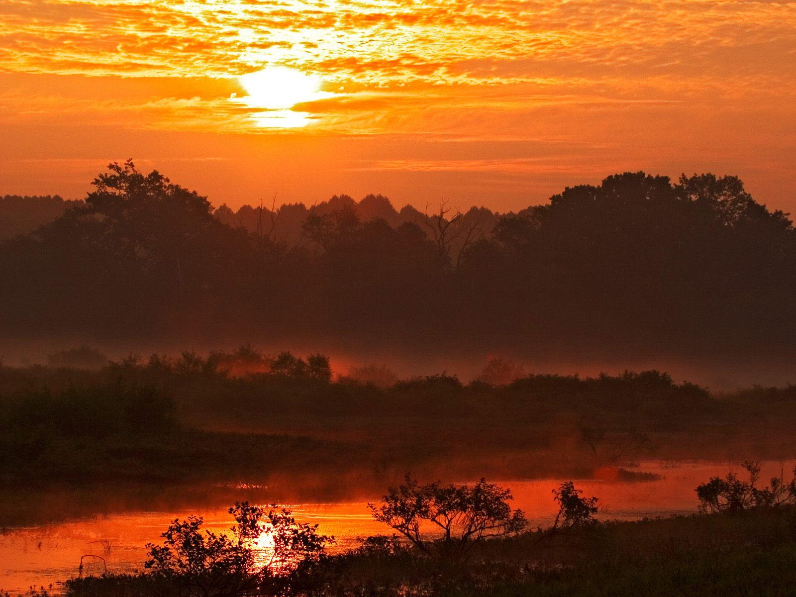Sunrise Over Muscatatuck National Wildlife Refuge, Indiana