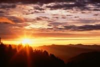 Sunrise from Newfound Gap, Great Smoky Mountains, Tennessee