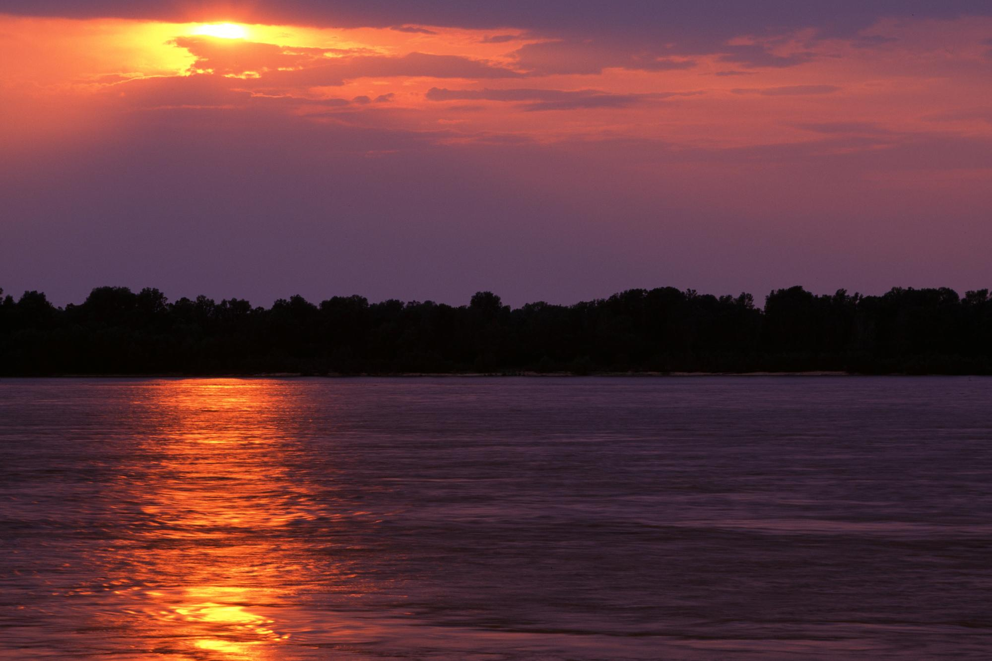 Sunset Over the Mississippi River, Arkansas