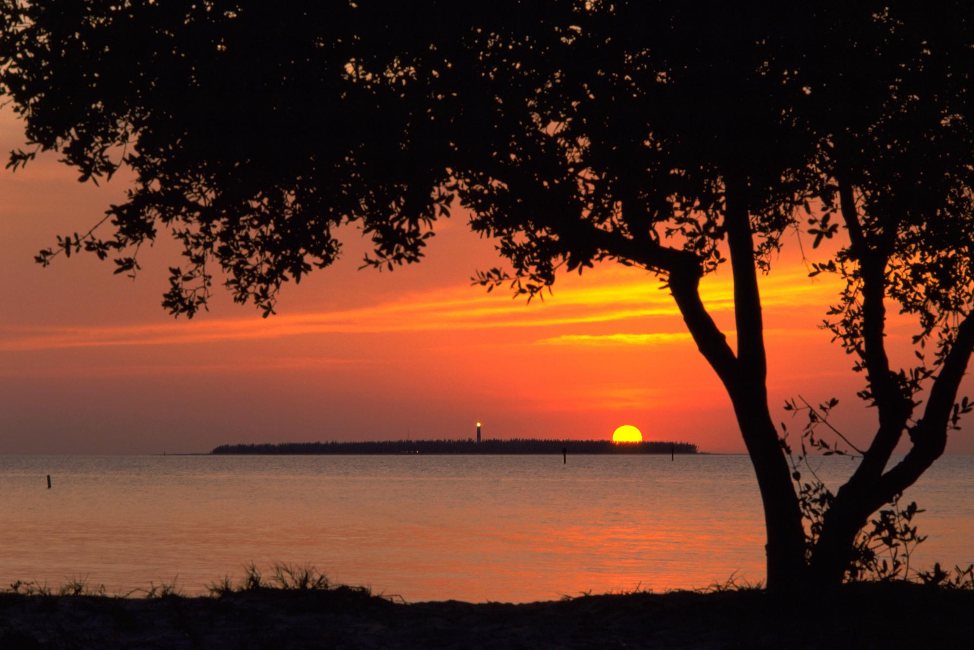 Sunset View from Fort Jefferson, Dry Tortugas National Park, Florida