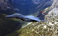 Us military plane over hills wallpaper
