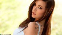beautiful girl with birds tattooo beautiful girl wallpaper