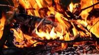Burning wood wallpaper