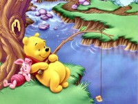 Cute wallpaper pooh fishing wallpaper