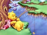 Cute wallpaper pooh fishing wallpaper