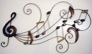 Metal Wall Art Music Scroll