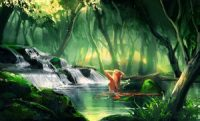 Nature lady by sakimichan Wallpaper