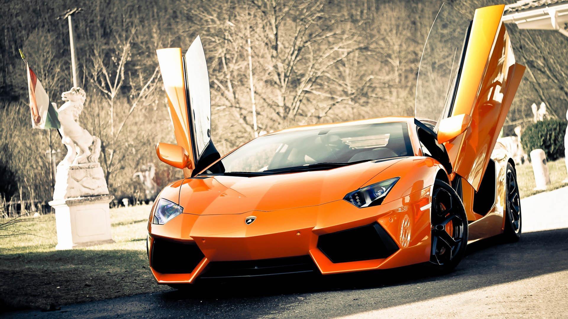 10 Best Super Car Wallpapers Hd Full Hd 1080p For Pc: Super Lamborghini Aventador Car Full HD Wallpaper