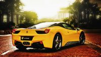 Yellow Ferrari Car HD Wallpaper