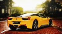 Yellow Ferrari Car HD Wallpaper
